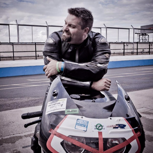 Boz is a keen Biker and this was part of the inspiration behind the name Back on Track as he now fits in his bike leathers again